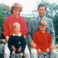 La princesse Diana et le prince Charles avec Harry et William en 1989 dans les îles Scilly.