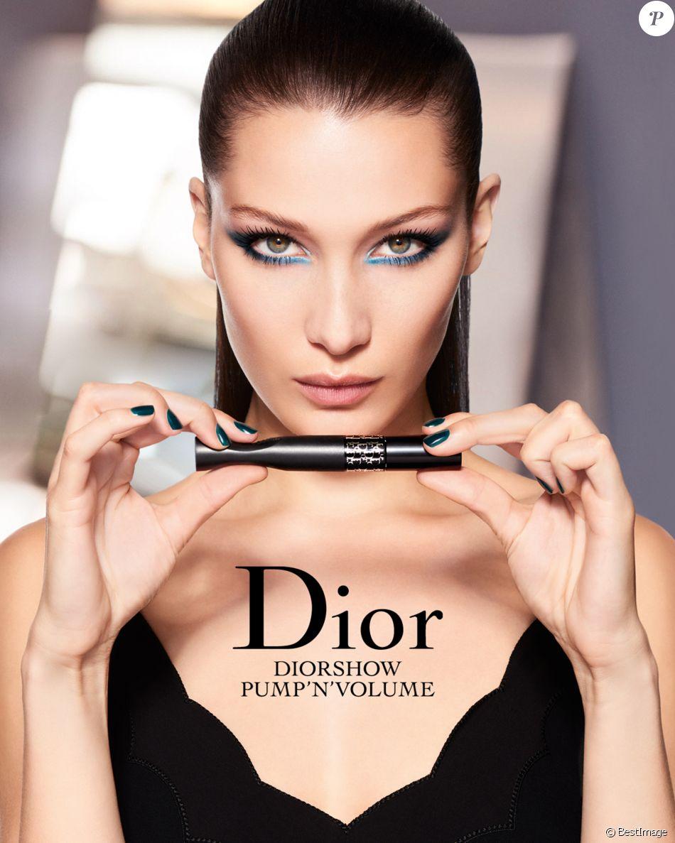 Bella Hadid apparaît sur sa première campagne publicitaire pour Dior Makeup.