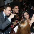 Romain Migdalski, Gwendal Marimoutou et Sarah Kiss (Sarah Kaddour) - Election de Mister France 2017 au théâtre Palace à Paris, France, le 14 mars 2017. © CVS/Bestimage
