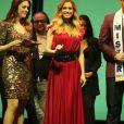 Sandra Lou, Clara Morgane et Ayem Nour - Election de Mister France 2017 au théâtre Palace à Paris, France, le 14 mars 2017. © CVS/Bestimage