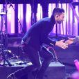 Adam Levine et Kendrick Lamar aux American Music Awards 2016 au Microsoft Theater. Novembre 2016.