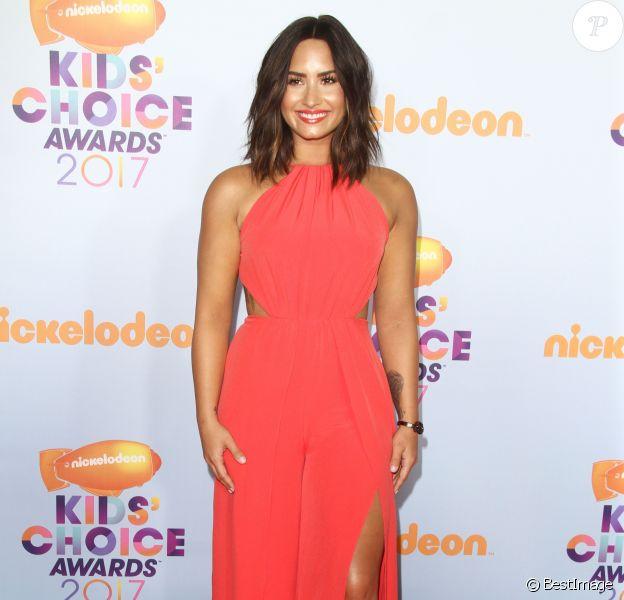 """Demi Lovato à la Soirée des """"Nickelodeon's 2017 Kids' Choice Awards"""" à Los Angeles le 11 mars 2017."""