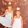 Penélope Cruz et sa petite soeur Monica Cruz.
