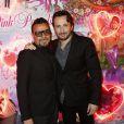 """Muratt Atik (propriétaire et patron du Pink Paradise), Michaël Cohen - Soirée des 15 ans du célèbre club parisien """"Le Pink Paradise"""" à Paris le 23 mars 2017."""