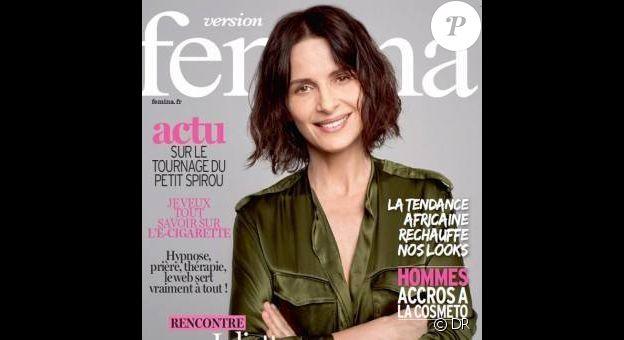 Juliette Binoche en couverture de Version Femina, supplément du Journal du dimanche du 26 mars 2017