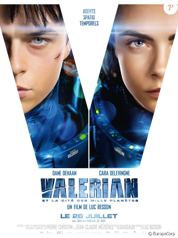 Nouvelle affiche pour Valérian et la Cité des mille planètes.