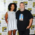 Luc Besson et Virginie Silla lors du panel EuropaCorp's Valerian and the City of a Thousand Planets au Comic-Con 2016 le 21 juillet.