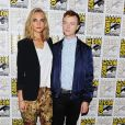 Cara Delevingne et Dane Dehaan lors du panel EuropaCorp's Valerian and the City of a Thousand Planets au Comic-Con 2016 le 21 juillet.
