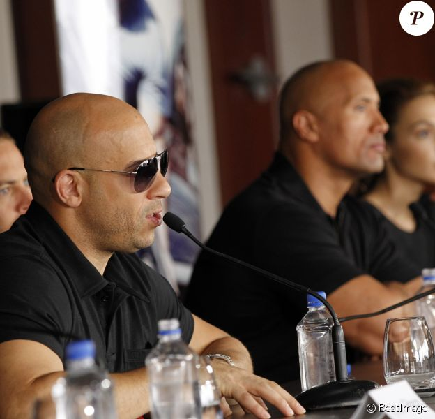 Vin Diesel et Dwayne Johnson à Marseille en avril 2011.
