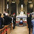""" Semi-Exclusif - Obsèques de Bernard Spindler, en présence de SAS le prince Albert II de Monaco, en la cathédrale de Monaco le 28 mars 2017. """