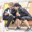 Lorie Pester et son compagnon Roby Schinasi - Vingtième édition de la course La Parisienne à Paris, France, le 11 septembre 2016. © Pierre Perusseau/Bestimage