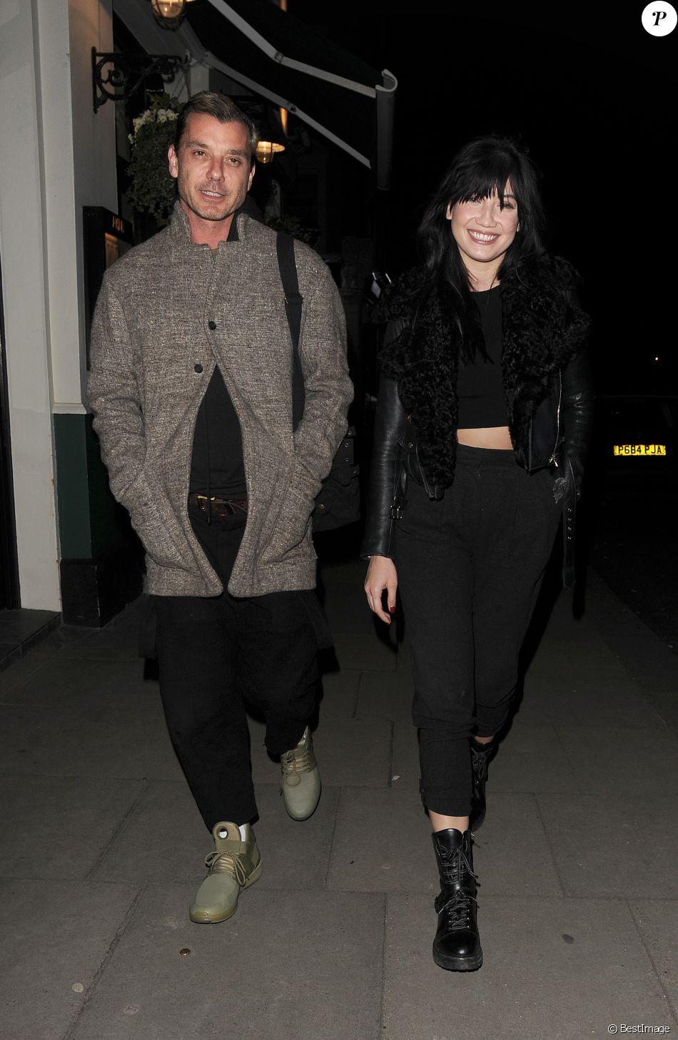 Exclusif - Gavin Rossdale emmène sa fille Daisy Lowe à dîner au restaurant Lemonia dans le quartier de Primrose Hill à Londres le 6 mars 2017
