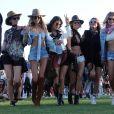 Alessandra Ambrosio et des amies à l'ouverture du festival de Coachella à Indio, le 14 avril 2017.