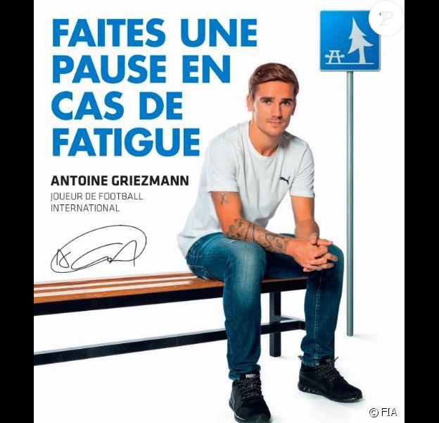 Antoine Griezmann ambassadeur de la grande campagne #3500Lives de la FIA (Fédération internationale de l'automobile) en partenariat avec JCDecaux.