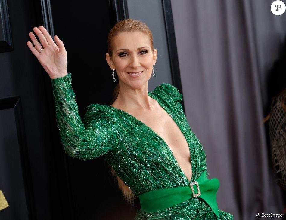 Celine Dion à la 59e soirée annuelle des Grammy Awards au théâtre Microsoft à Los Angeles, le 12 février 2017