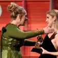 Adele et Céline Dion - 59e cérémonie des Grammy Awards au Staples Center le 12 février 2017