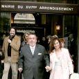 Dominique Farrugia et sa femme Isabelle lors de leur mariage à Paris en 2005
