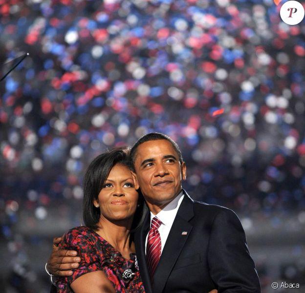 Michelle et Barack Obama, en aout 2008 dernier, lors d'un discours pour la convention nationale démocratique de Denver.