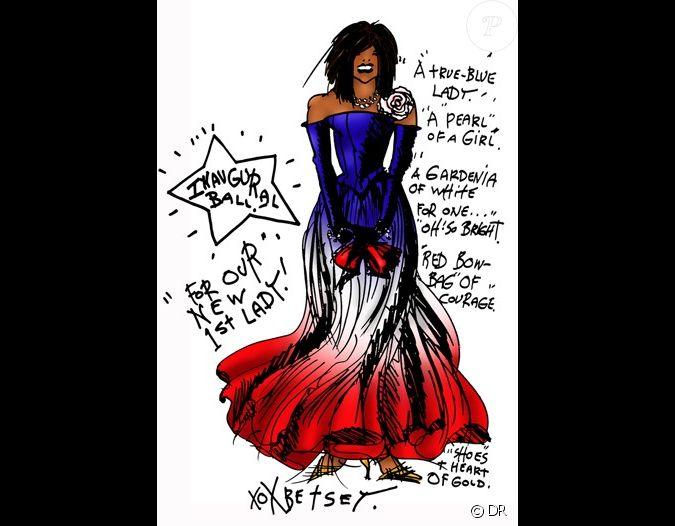 Betsey johnson a imagin cette longue robe bustier aux for Robes de mariage de betsey johnson