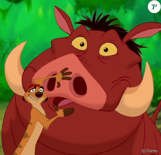 Timon et Pumbaa dans Le Roi Lion.