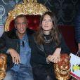 """Exclusif - Samy Naceri et sa compagne Marie de Fleurieu - Inauguration du restaurant de C. Lacourt, le """"Fidèle"""" à Paris le 27 avril 2017. © CVS/Bestimage"""
