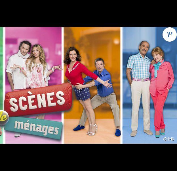 Les cinq couples de la série Scènes de ménages sur M6.