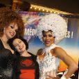 """Exclusif - Lio - Les Stars 80 assistent au spectacle """"Priscilla Folle du désert"""" au Casino de Paris le 21 avril 2017. © Marc Ausset- Lacroix / Bestimage"""