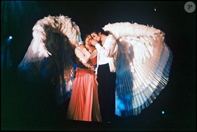 Michael Jackson en concert à Londres. Juin 1992.