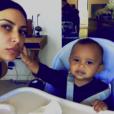 Kim Kardashian et son fils Saint (14 mois) sur de nouveaux clichés publiés le 27 février 2017 sur Instagram