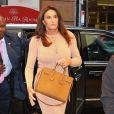 Exclusif - Caitlyn Jenner retrouvent A.Pejic pour un déjeuner à l'hôtel Hyatt à New York le 25 avril 2017.