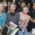 """Vanessa Paradis, Jean-Paul Goude et Lily-Rose Depp - People au défilé de mode """"Chanel"""", collection prêt-à-porter printemps-été 2016, au Grand Palais à Paris. Le 6 Octobre 2015 P"""