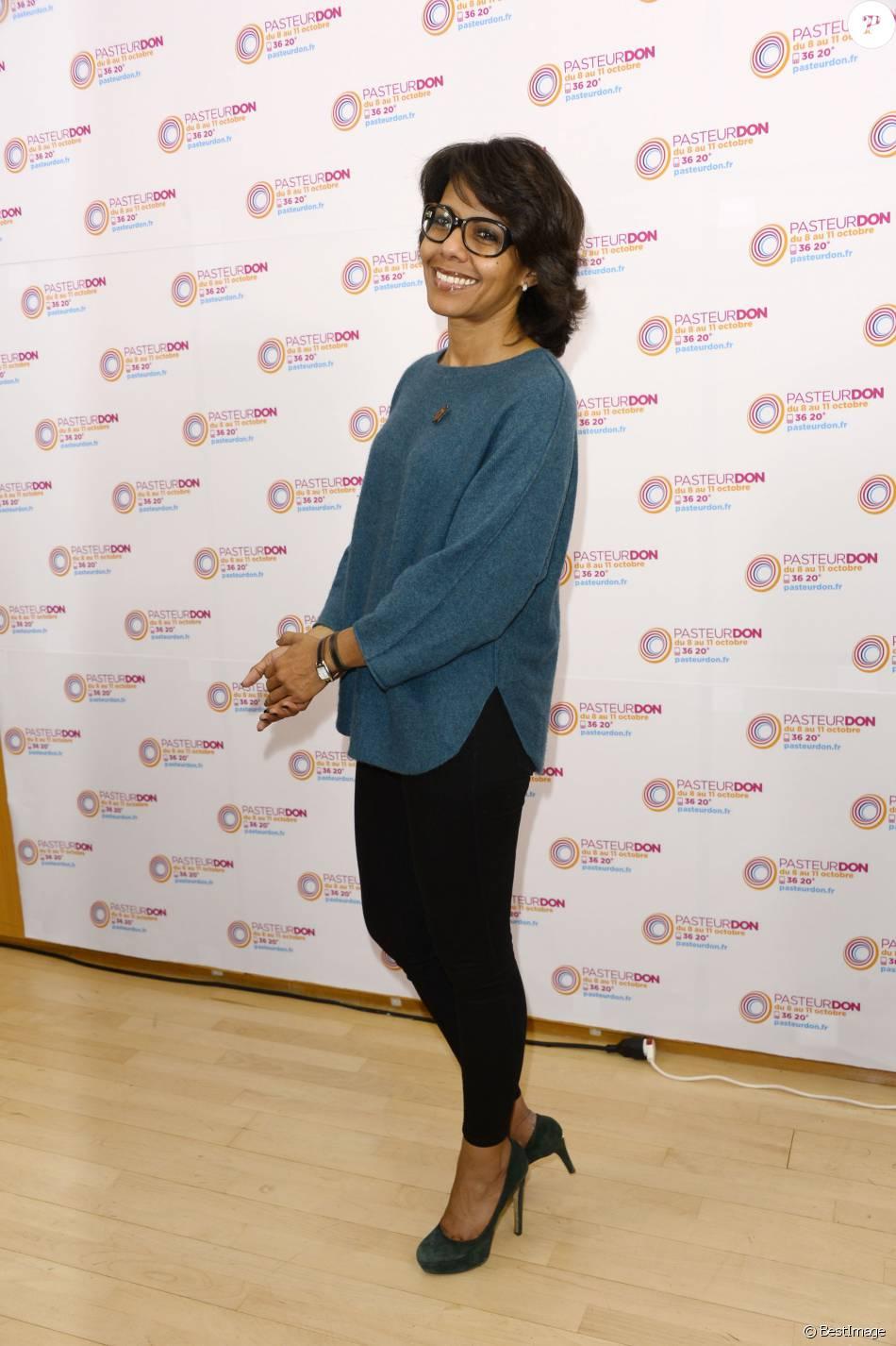 """Audrey Pulvar - Lancement du """"Pasteurdon"""", soutenu par les animateurs de la TNT et des radios à l'Institut Pasteur à Paris le 7 octobre 2015"""
