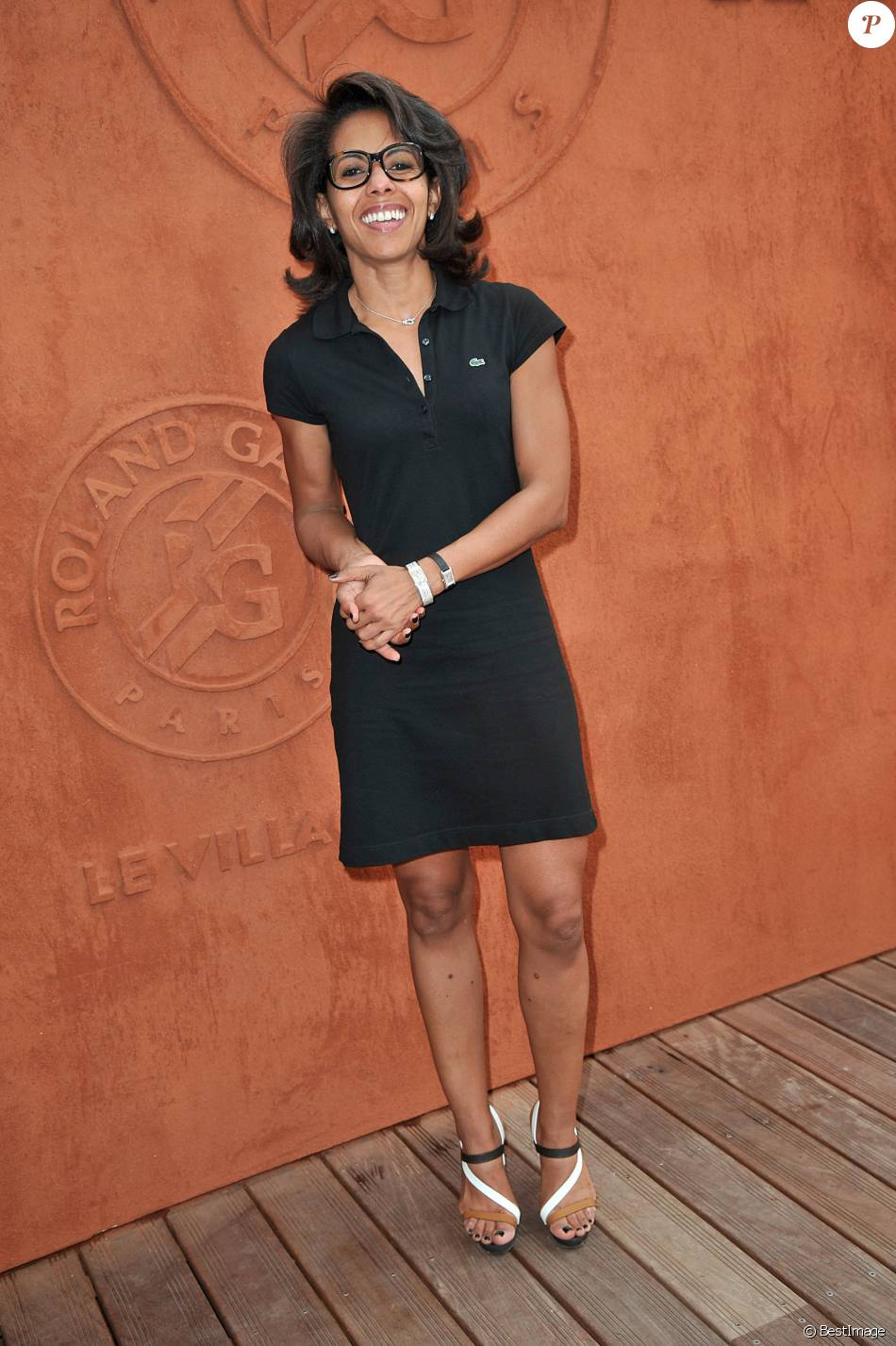 Audrey Pulvar - People au village des Internationaux de France de tennis de Roland Garros à Paris, le 7 juin 2014.