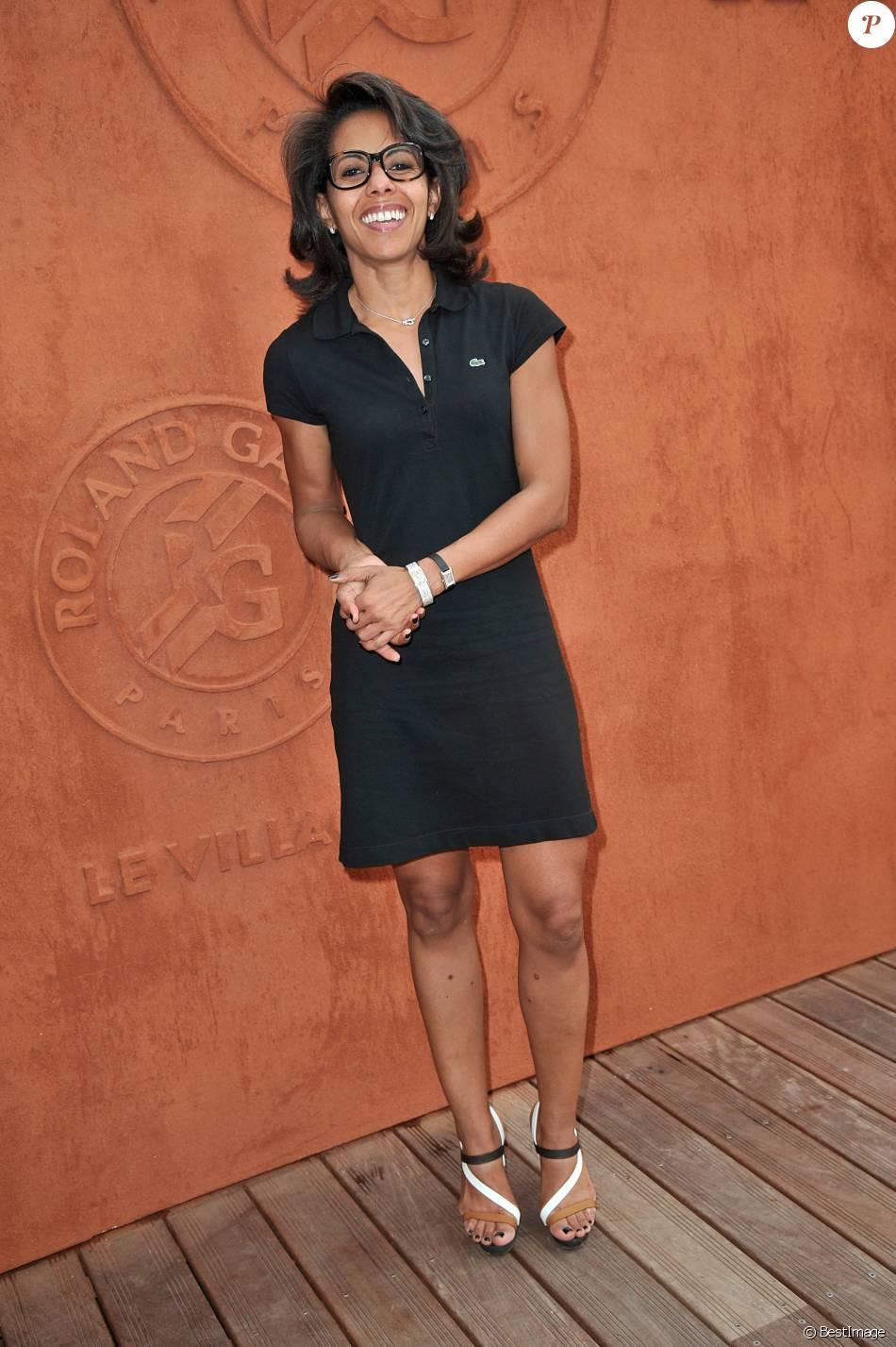 Audrey Pulvar - People au village des Internationaux de France de tennis de Roland Garros à Paris, le 7 juin 2014.