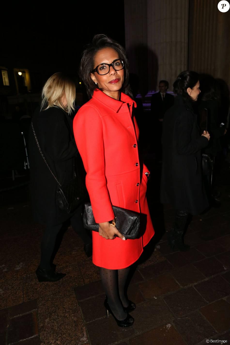 Audrey Pulvar - Arrivées au défile Etam collection prêt-à-porter automne-hiver 2014/2015 lors de la fashion week à la Bourse du Commerce à Paris le 25 février 2014