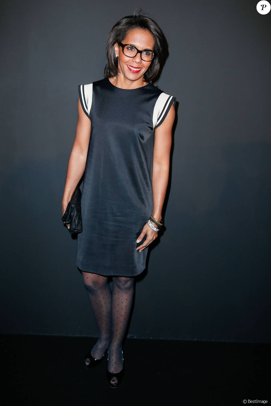 Audrey Pulvar - People au défilé de la collection Natalia pour Etam à la Bourse du Commerce à Paris, le 25 février 2014.