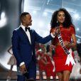Miss District of Columbia USA, Kara McCullough lors de l'élection de Miss USA 2017 au Mandalay Bay Resort and Casino de Las Vegas, le 14 mai 2017