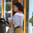 Vanessa Hudgens quitte le salon de coiffure Nine Zero One à West Hollywood. Los Angeles, le 16 mai 2017.