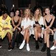 Russell Westbrook en la charmante compagnie d'Emily Ratajkowski, Nina Agdal, Constance Jablonski, Martha Hunt et Cara Santana au défilé DKNY lors de la Fashion Week de New York le 12 septembre 2016.