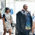 """Russell Westbrook et sa compagne Nina en août 2014 à New York."""