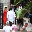 Penelope Cruz, Edgar Ramirez et Ricky Martin sur le tournage de Versace : American Crime Story à Miami, le 17 mai 2017