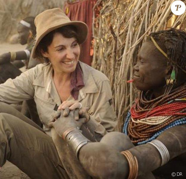 Zabou Breitman au cours de son voyage en Ethiopie avec Frédéric Lopez.