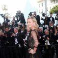 Charlize Theron (en robe Christian Dior et bijoux Chopard) -Montée des marches de la Soirée du 70ème Anniversaire du Festival de Cannes. Le 23 mai 2017