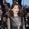 Laetitia Casta (robe Christian Dior) -Montée des marches de la Soirée du 70ème Anniversaire du Festival de Cannes. Le 23 mai 2017