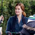 Exclusif - Rebecca Mader sur le tournage de 'Once Upon a Time' à Vancouver, le 28 février 2017