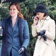 Exclusif - Rebecca Mader et Lana Parrilla sur le tournage de 'Once Upon a Time' à Vancouver, le 28 février 2017