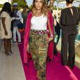 """Majda Sakho (Frau von Mamadou Sakho)au défilé de mode Philipp Plein dans la villa """"La Jungle du Roi"""" lors du 70ème festival de Cannes le 24 mai 2017."""
