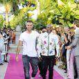 """Philipp Plein, Floyd Mayweather jr.au défilé de mode Philipp Plein dans la villa """"La Jungle du Roi"""" lors du 70ème festival de Cannes le 24 mai 2017."""