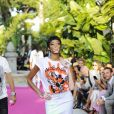 """Winnie Harlowau défilé de mode Philipp Plein dans la villa """"La Jungle du Roi"""" lors du 70ème festival de Cannes le 24 mai 2017."""