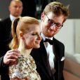 """Jessica Chastain et son frère Will Chastain - Montée des marches du film """"Aus Dem Nichts"""" (In The Fade) lors du 70e Festival International du Film de Cannes. Le 26 mai 2017. © Borde-Jacovides-Moreau / Bestimage"""